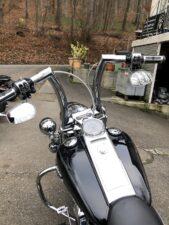 Harley-Davidson FLHRC Road King 2 Zoll Burleigh Apehanger (3)