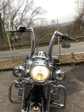 Harley-Davidson FLHRC Road King 2 Zoll Burleigh Apehanger (4)