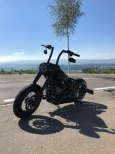 Harley-Davidson Softail Slim S Heckumbau Apehanger Mitschwingender Heckfender Breitreifen