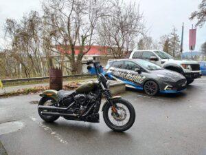 Harley-Davidson FXBB Umbau Burleigh Tieferlegung