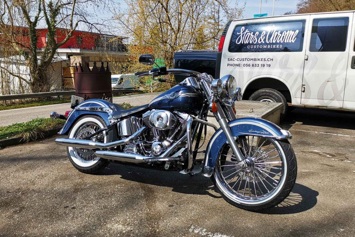 Harley-Davidson Heritage Chicano mexican style Umbau