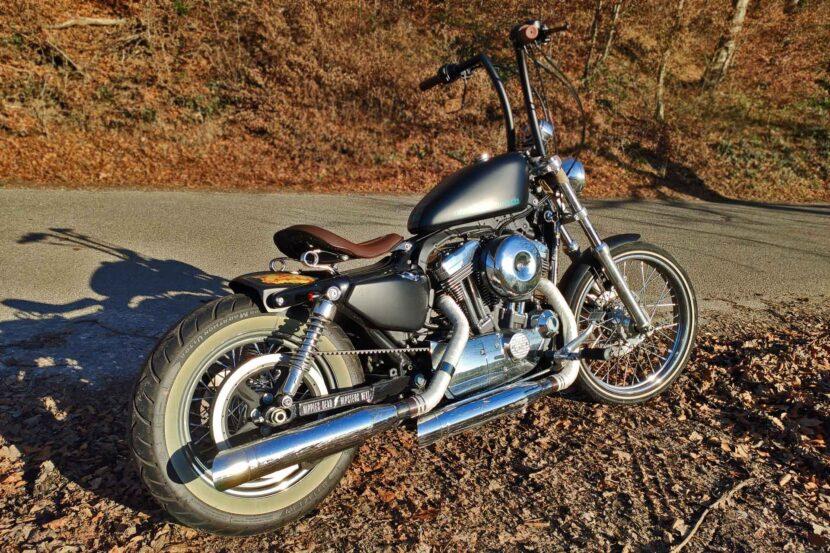 Harley-Davidson Sportster 72 Umbau Apehanger Airbrush Rearfender