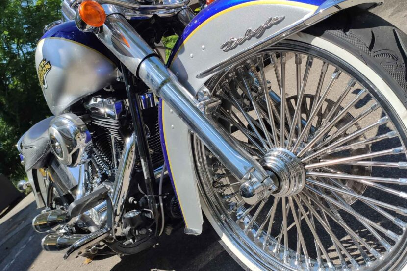 Softail Deluxe Chicano Mexican Style Apehanger BigSpokes