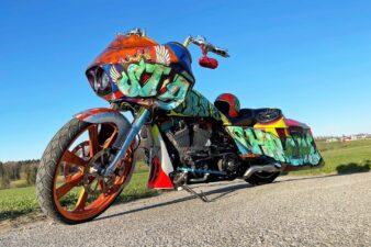 Harley Bagger Custom Paint Airbrush BigWheel OpenBelt