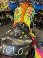 Stretch Tank custom seat Airbrush paintjob
