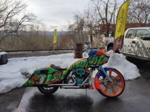 Custompaint Harley Bagger Zsukart Airbrush